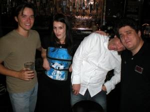 Me, Rhianna Pratchett, Andy Walsh & Richard Dansky