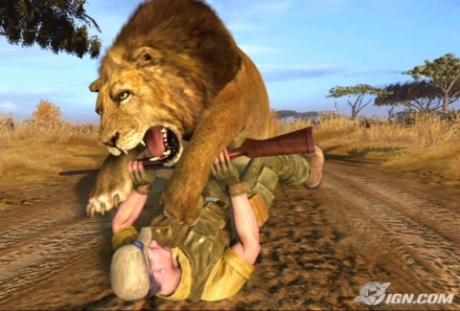 """Simba, it's me! The great white hunter!"""